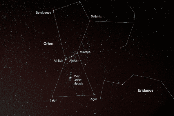orion constellation star names