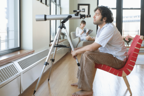 how far can you see with a telescope on land