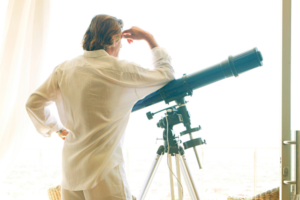 Why can't I see anything through my telescope?
